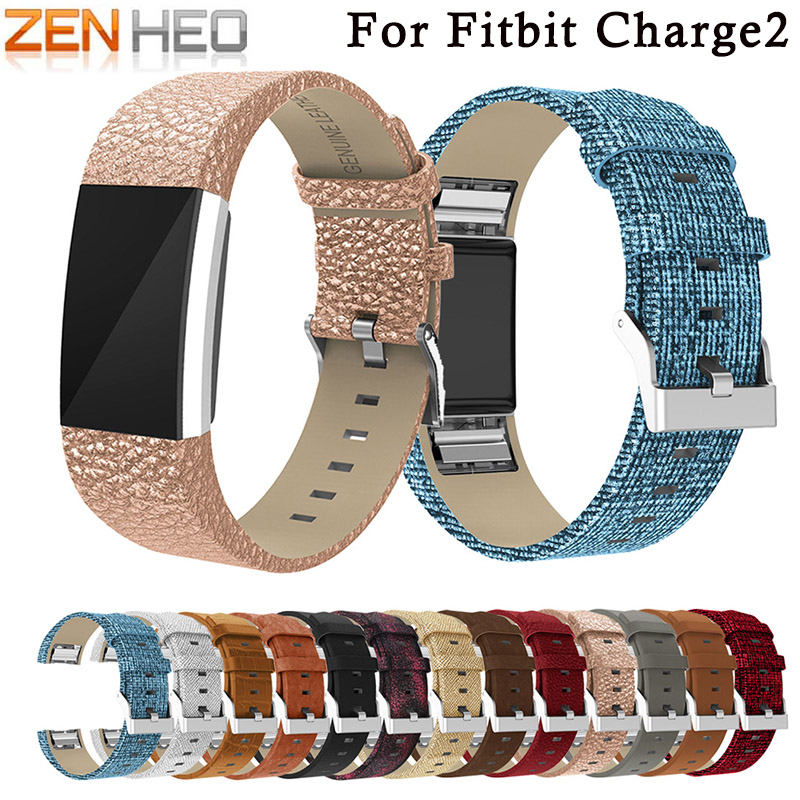 ZENHEO Replacement Band For Fitbit Charge 2 Bands Wristband Bracelet Belt Leather Watch Band For Fitbit Charge 2 Smart Watch