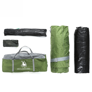 Image 5 - outdoor products 3 4 people double room one hall tunnel tent camping rain Open tent Throw pop up tents Hiking Family Beach large