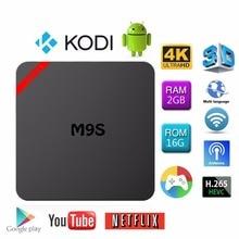 (2G+16G) S905X Octa Core Smart M9S X2 SE TV BOX Android 6.0 KODI 16.1 Fully Loaded 4K BT WIFI 2.4GHz/1GB DDR3