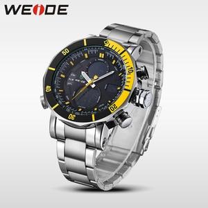 Image 4 - WEIDE Heren Horloges Top Brand Luxe Analoge Digitale LCD Quartz Military Army 30 M Waterdichte Blue Dial Polshorloge met geschenkdoos