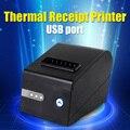 POS80 Тепловая Чековый Принтер USB порт с Авто-резак Поддержка штрих-кодов и многоязычный печати XP230