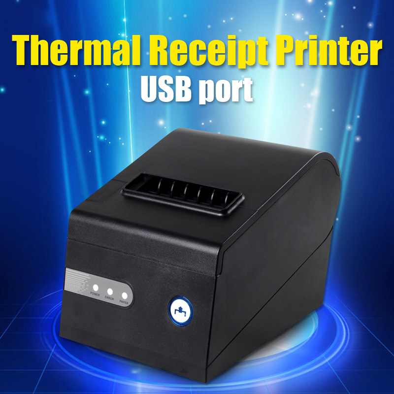 ФОТО POS80 Thermal Receipt Printer USB port with Auto-cutter Support barcode and multilingual print XP230