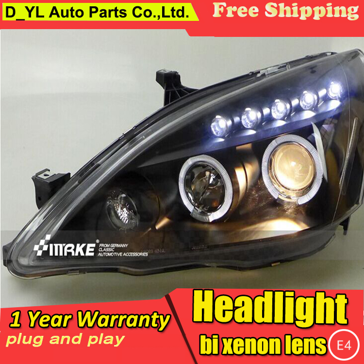 Car Lights Car Light Assembly Selfless D_yl Car Styling For Honda Accord Headlights 2003-2007 Accord Led Headlight Drl Bi Xenon Lens High Low Beam Parking Hid Fog Lamp