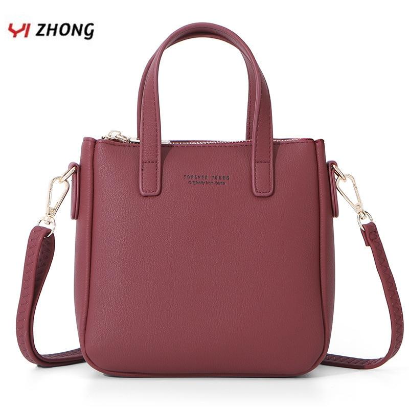 YIZHONG High Capacity Handbag Fashion Women Shoulder Bag Leather Women's Crossbody Messenger Bags Ladies Purse Female Tote Bag