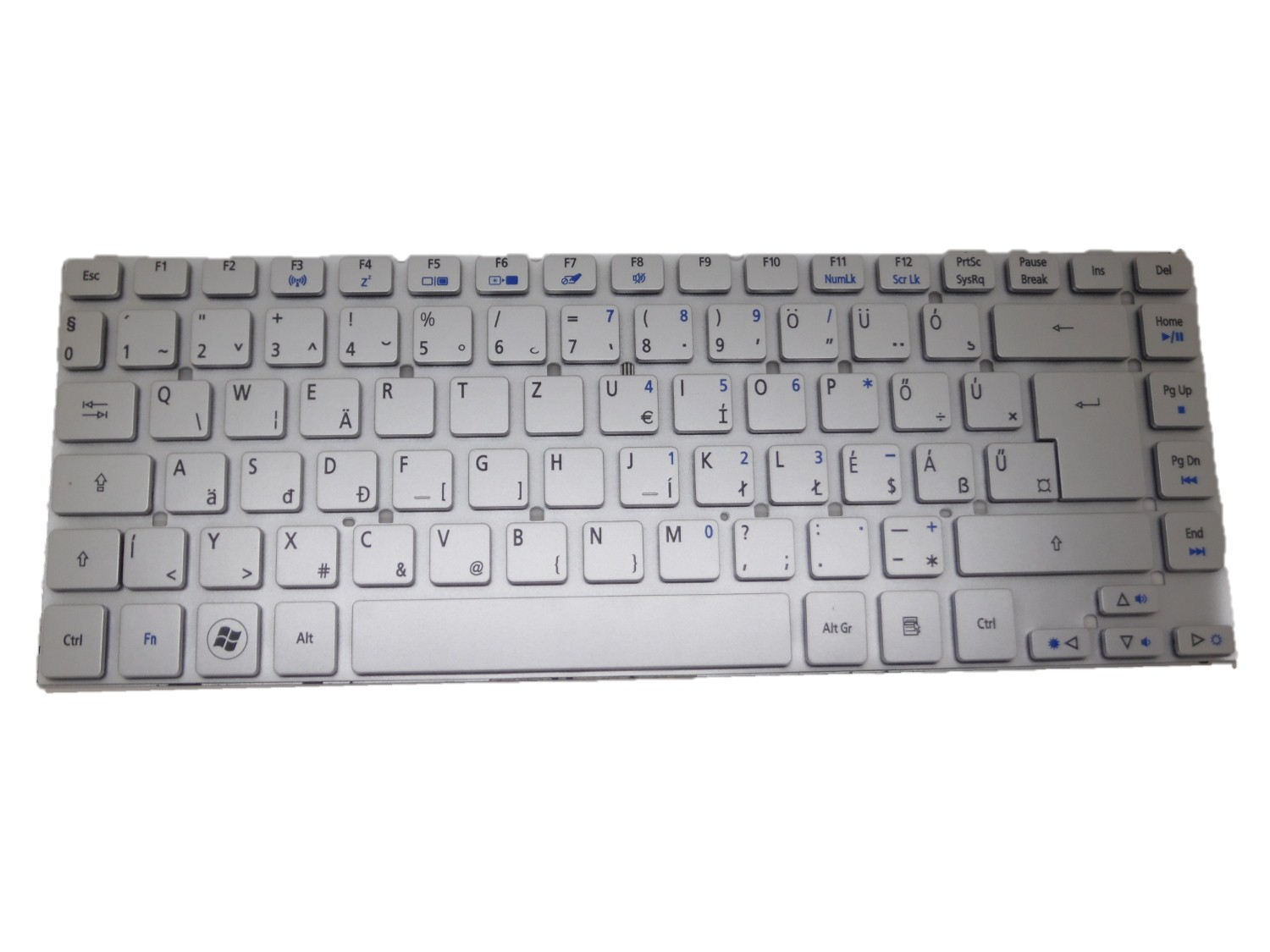 Laptop Keyboard For Acer Silver Without Frame United Kingdom UK  V-121646CK2-UK AEZQSE00110 laptop keyboard for acer silver without frame bulgaria bu v 121646ck2 bg aezqs100110