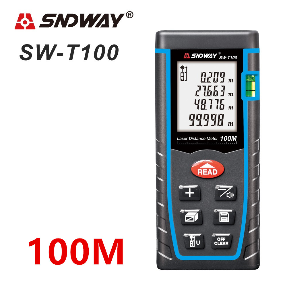 SNDWAY Laser Distance Meter 40-120M with LCD and Auto Power Off to Measure Wide Range Area 12