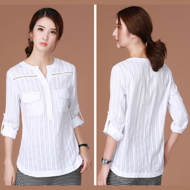 Shintimes Chemise Femme 2017 White Korean Clothes Women Blouse Ladies Office Shirts Woman Blouses Long Sleeve Blusas Feminina