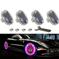 4pcs Led Flash Tyre Valves Lamp 13 Flash color Models  Stunning Waterproof Car Tuning Gas Nozzle Cap Lamp Rim Light CE