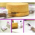 Plastic 2PCS Kitchen DIY Cake Bread Cutter Leveler Slicer Cutting Fixator Tool 5 Layers Tools Cake Decorating Tools