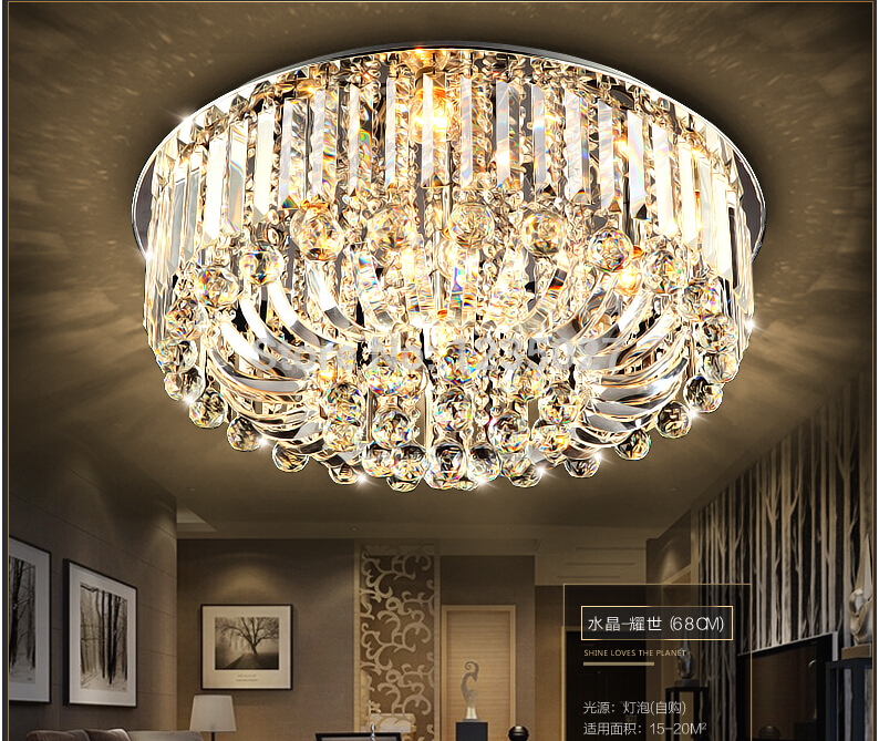 Free Shipping Modern Ceiling Lamp Dia800/Dia680/Dia500*H300mm K9 Crystal Ceiling Lamp crystal , Home Decoration Crsytal Lighting free shipping high quality modern crystal ceiling lamp golden crystal ceiling lighting sy4062 4l d500mm ac 100