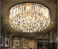 Free Shipping Modern Ceiling Lamp Dia800 Dia680 Dia500 H300mm K9 Crystal Ceiling Lamp Crystal Home Decoration
