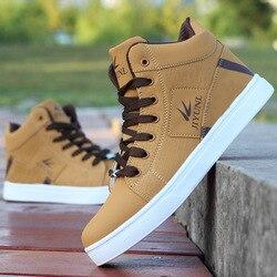 Męskie wysokie trampki przypadkowi buty na deskorolkę sportowe buty oddychające hip hopowe buty do chodzenia buty na zewnątrz Chaussure Homme w Skateboarding od Sport i rozrywka na