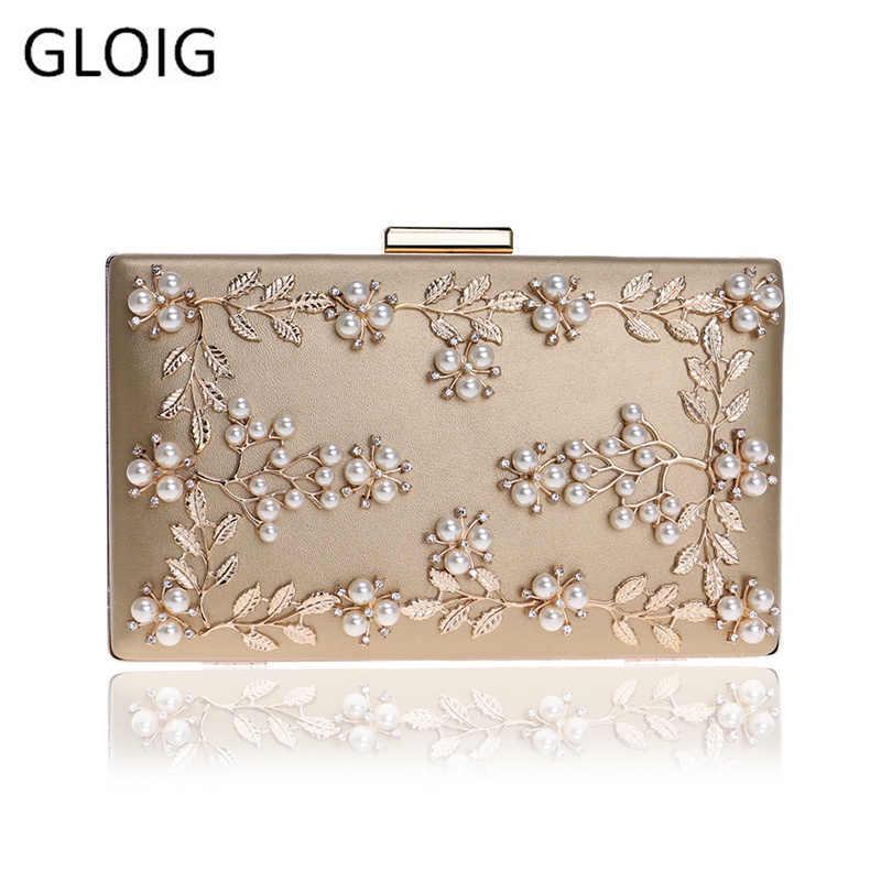 패션 새로운 여성 이브닝 클러치 백 pu 체인 숄더 핸드백 리프 메탈 페르시 저녁 지갑 메신저 가방