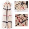 Señora Bufandas Multicolor Pop Gran Bufanda A Cuadros Clásico Estilo de la Universidad Británica de La Gasa de Las Mujeres Chales Pashimina Bufandas Mujer Abrigo