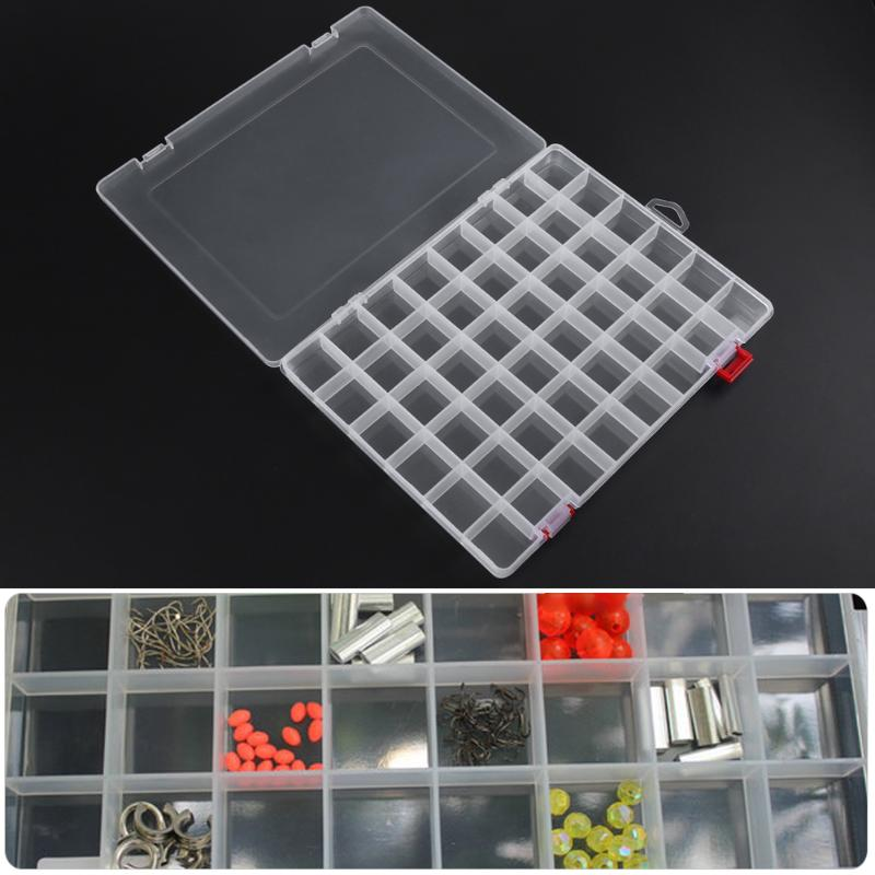 48 Grids Plastic Box Adjustable Jewelry Box Beads Pills Nail Art Storage Box Organizer for the office housekeeping organization
