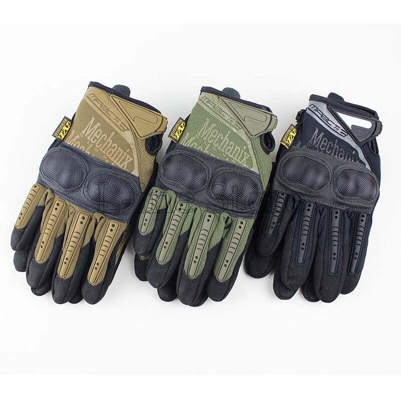 Mechanix Носите M-Pact3 Открытый Мужчины Тактические Перчатки Airsoft Пейнтбол Охота Отдых Туризм Полный Finger Motocycel Велосипедные Перчатки