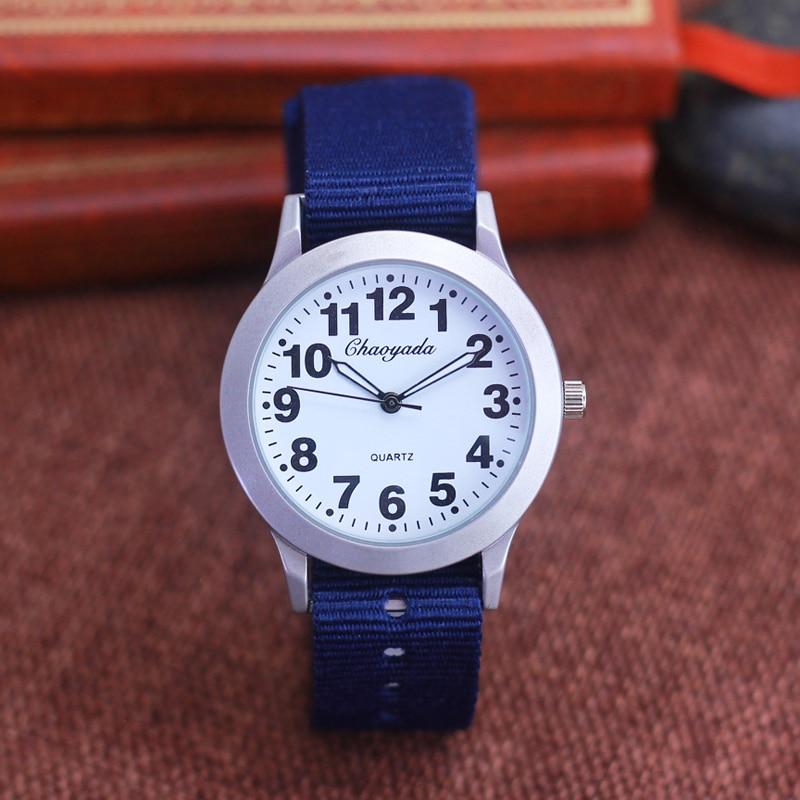 2019 Chaoyada New Children Boys Girls Outdoor Sports Canvas Quartz Wrist Watches Kids Daily Waterproof Fashion Electronic Clocks