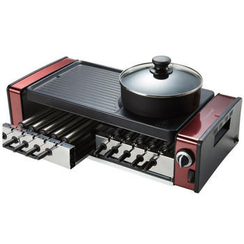 Household Electric Barbecue Machine Multifunctional Korean Style Smokeless BBQ Grill Hot Pot & BBQ Integrated Machine kebab machine household electric grill automatic rotation of barbecue grill indoor smokeless barbecue machine small kebabs