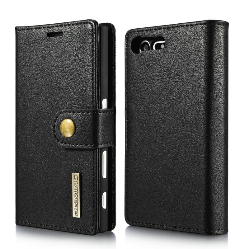 imágenes para DG. MING para Sony Xperia X Compacto Casos de Cuero 2 en 1 Monedero Cuero partido + Móvil Cubierta de La PC para Sony Xperia X Concha Compacto