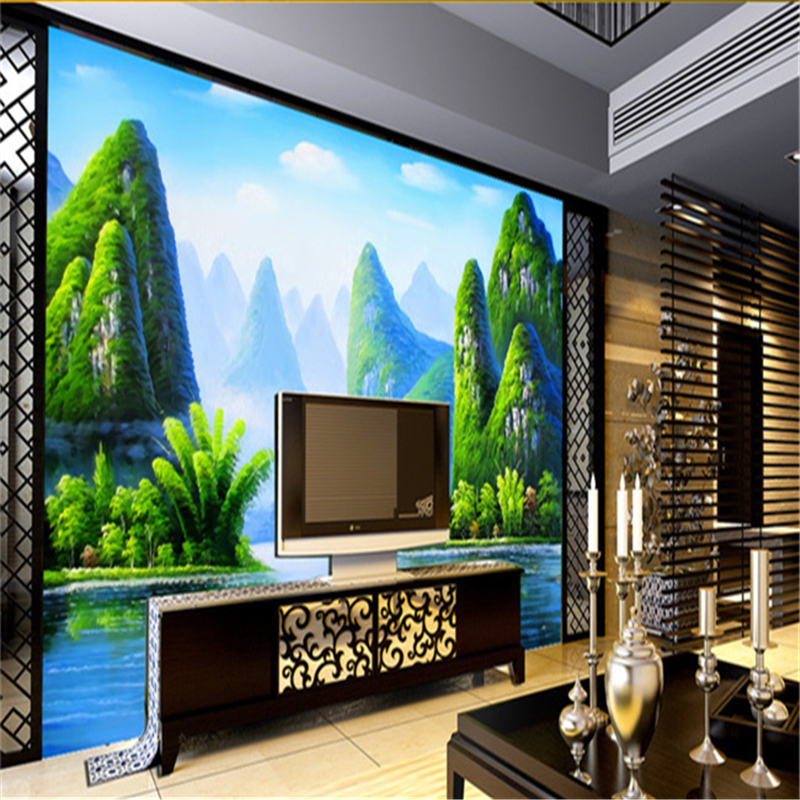 Popular size wallpaper buy cheap size wallpaper lots from for Custom size wall mural