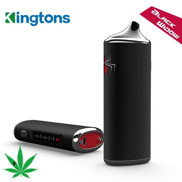 DHL 100% Original Black Widow Kingtons dry herb mod box kit 2200mah herbal vaporizer vape pen e cig cigarette black widow mighty v3 herbal vaporizer e cigarette portable powerful temperature adjustable dry herb v3 mighty atomizer wax vape box mod cig