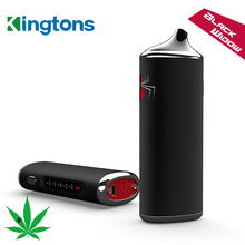 DHL 100% Original Black Widow Kingtons dry herb mod box kit 2200mah herbal vaporizer vape pen e cig cigarette black widow