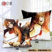 Anime Attack on Titan Polyester Double-Faced Pillowcase