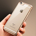 hot luxury case for iphone5 5s 6 6s 6plus  original back cover clear transparent Gold rose armor soft tpu mobile phone case