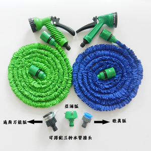 high quality TPE 50FT Garden Hose With Quick Connector Magic Water Hose Irrigative Expanding Hose with spray head|hose sink|hose hosehose length -