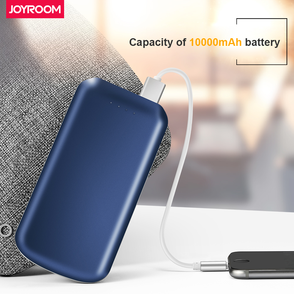 Joyroom Real 10000mAh Power Bank Dual USB Ultra Slim External Battery Charger Powerbank For Mobile Phones Poverbank Fast Charger ...