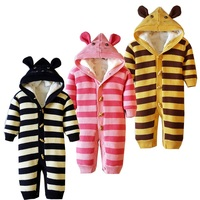 New autumn/winter baby's sweater baby's suitbody infant romper fit for 6 to 18 month baby warm clothing fleece inside 973