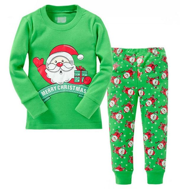 8994517d73aa 2017 Baby Boys Girls Christmas Pajamas Kids Long Sleeve Xmas PJS ...