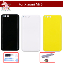 10pcs for xiaomi mi6 mi 6 Back Battery housing cover replacement Parts For Fashion Frosted Plastic Cover