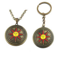 Dark Souls 3 Necklace Pendant Solaire of Astora Metal Keychain Keyring