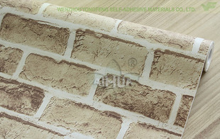 Brick grain Free shipping home decor wall self-adhesive decorative films Wall coil Wallpaper tv wall stickers background wall auto accessories chameleon sticker 30m 1 52m functional car pvc red copper color stickers home decorative films stickers