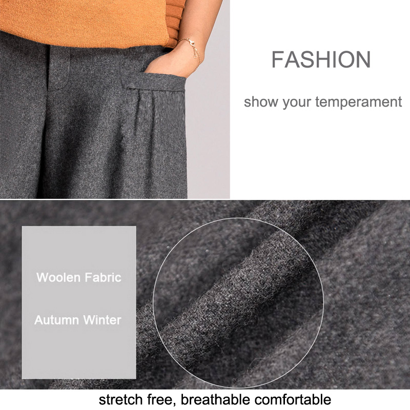 LOMAIYI Warm Autumn Winter Wide Leg Pants For Women Loose Harem Pants Women s Office Trousers
