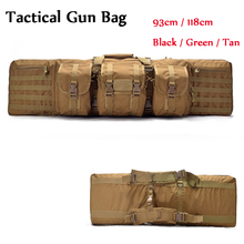 Paintball Airsoft Gear Outdoor Hunting Bag Tactical Rifle Gun Carry Bag Large Loading Nylon Holster Shoulder Backpack 93cm/118cm tactical hunting rifle gun heavy duty carry bag 1000d nylon paintball airsoft air gun shoulder backpack