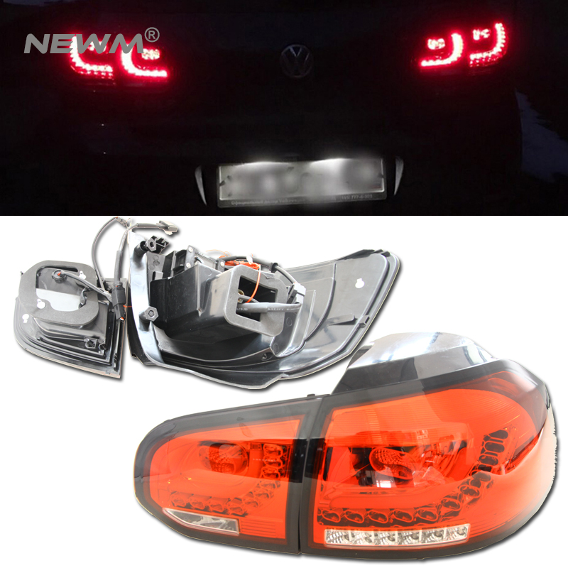 4pcs Car Styling for VW GOLF 6 MK6 GOLF6 R20 TAIL Lights LED Tail Light LED Rear Lamp DRL+Brake+Reversing+Signal assembly for great wall pickup truck wingle 6 tail lamp assembly rear lights assembly
