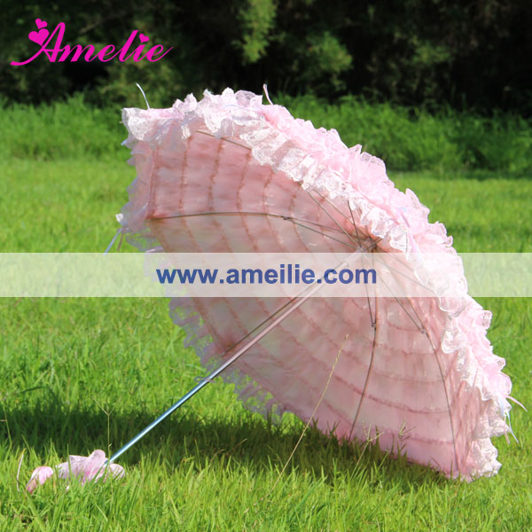 Image 3 - Free Shipping Pink  Lace Wedding Umbrellalace denimumbrella bagumbrella garden -