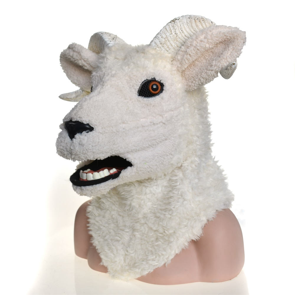Costume de carnaval Cosplay mascarade de mouton d'agneau masque animal complet pour fête de carnaval d'halloween - 2