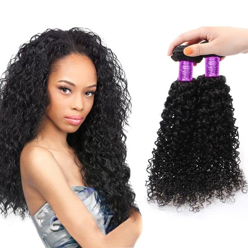 100g Peruvian Virgin Real Human Hair Extensions Weave kinky curly hair 1 Bundle