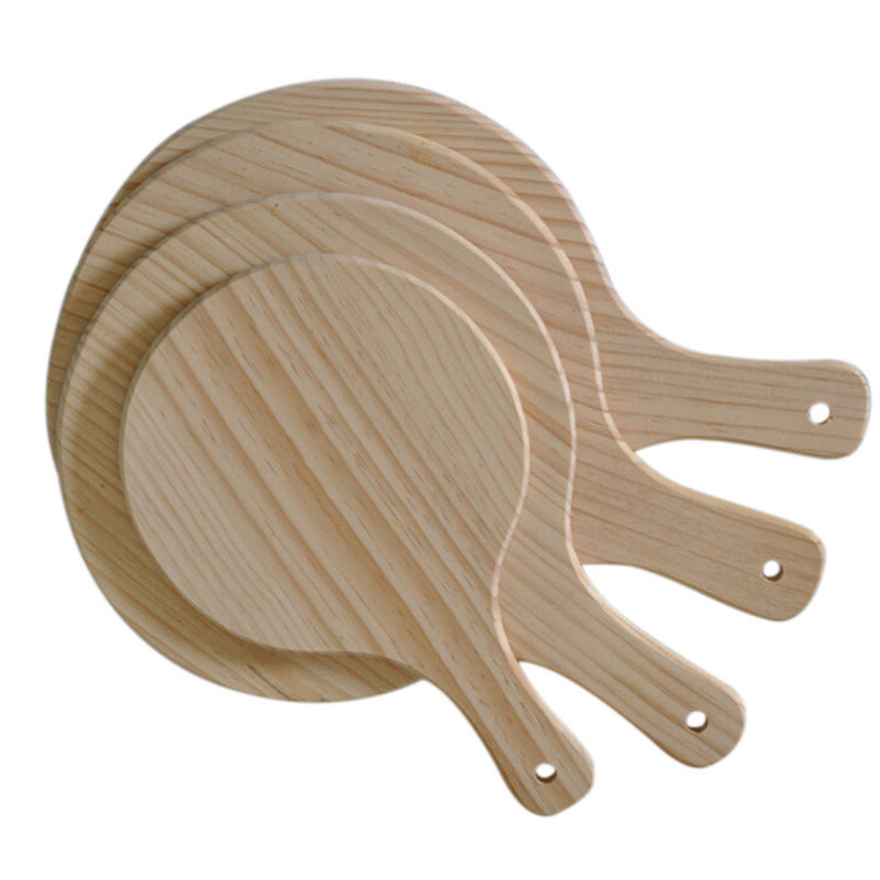 25cm Round Wooden Pizza Plate Pizza Tray Pad with Handle Pizza Peel Baking Tray Plate Stone Cutting Board Platter Kitchen Tool-in Pizza Tools from Home ...  sc 1 st  AliExpress.com & 25cm Round Wooden Pizza Plate Pizza Tray Pad with Handle Pizza Peel ...