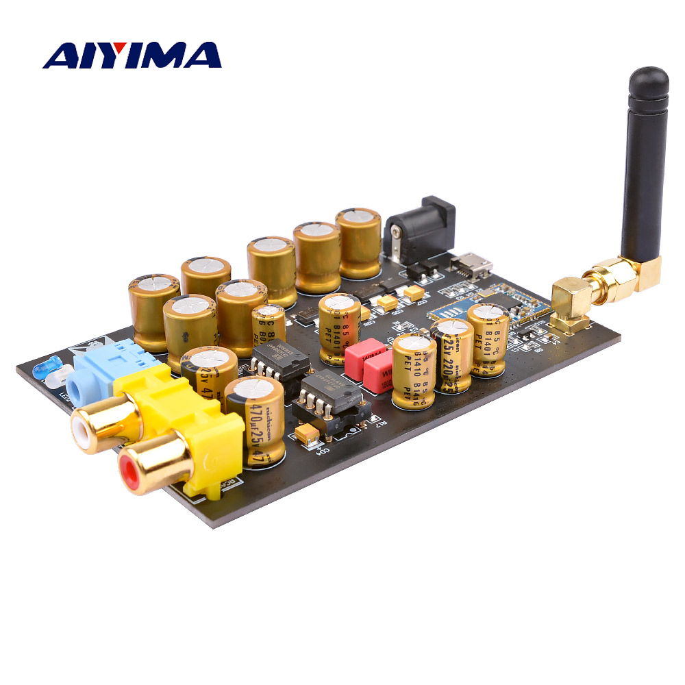 AIYIMA Bluetooth 5.0 CSR8675 Receiver Decoder Board APTX HD PCM5102 DAC 24BIT Audio Decoding DIY Mini Headphone Amplifier AmpAIYIMA Bluetooth 5.0 CSR8675 Receiver Decoder Board APTX HD PCM5102 DAC 24BIT Audio Decoding DIY Mini Headphone Amplifier Amp