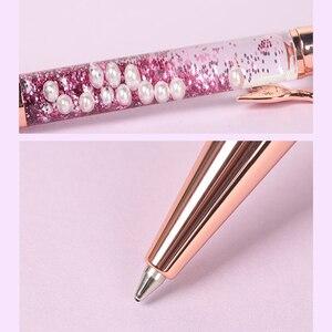 Image 5 - Caneta esferográfica da série sereia, caneta esferográfica de 0.7mm ouro rosa, material de papelaria para estudantes