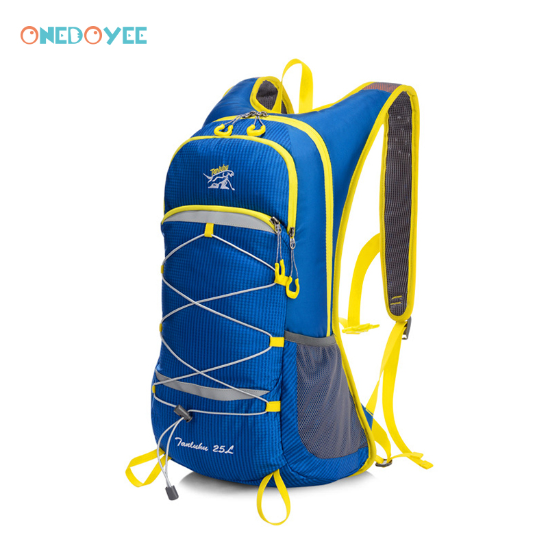 Onedoyee 25L Climbing Backpack Rucksack Cycling Backpack Unisex Outdoor Sports Bag Waterproof Backpack with Water Bag for Travel harlem hl1087 outdoor sports tpu backpack water bag dark green 2l