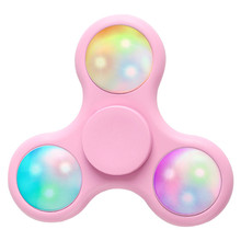 2017 Fidget Spinner Led Glow In The Dark Light Spinner Toy Plastic Edc Hand Spinner Mini Anti Stress Adhd Toys For Kids Adults