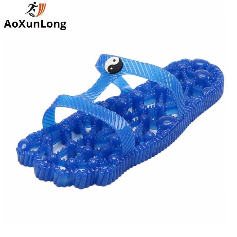 AoXunLong New Shower Slipper Women Non-slip Massage Home Slippers Shower Leaking Slippers Large Size 36-43 Unisex Flip Flop Hot