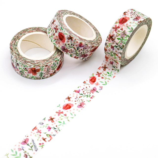 Poppy Flowers Washi Tape