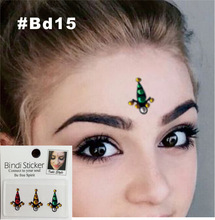 BD14, BD15 Bollywood Strass Face Jewel Bindi Which Can Be Big Belly Dance Tribal Fusion Bindis Sticker