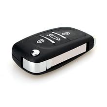 3 кнопки Замена удаленного ключи от машины подходит для Peugeot 207 407 406 307 308 SW 408 107 флип складной ключ 434 мГц PCF7961 чип
